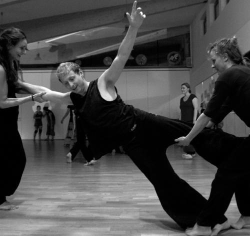 Marielle Gerke, Roland Nordeck & Nadja el Eid Tanzsamstag Göttingen 2015 © Anton Säckl
