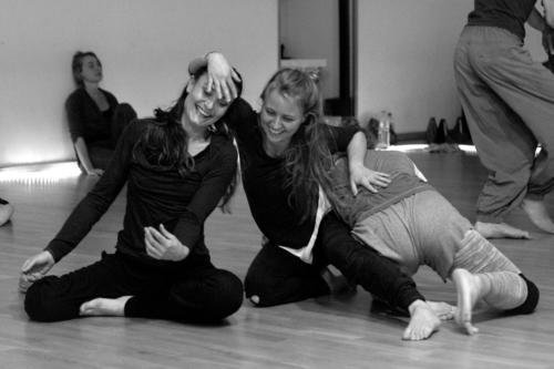 Marielle Gerke, Katja-Bahini Mangold & Nadja el Eid Tanzsamstag Göttingen 2015 © Anton Säckl