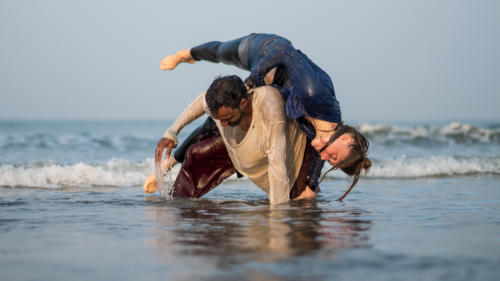 Guru Suraj & Marielle Gerke © Ambarish Shiva @ Arambol Beach, Goa, India 01/2018